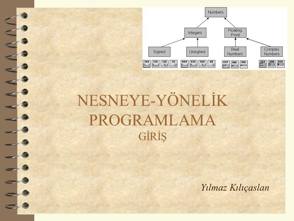 NESNEYE-YÖNELİK PROGRAMLAMA GİRİŞ