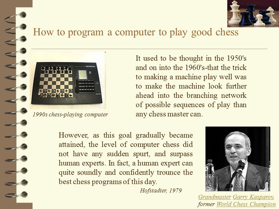How to program a computer to play good chess