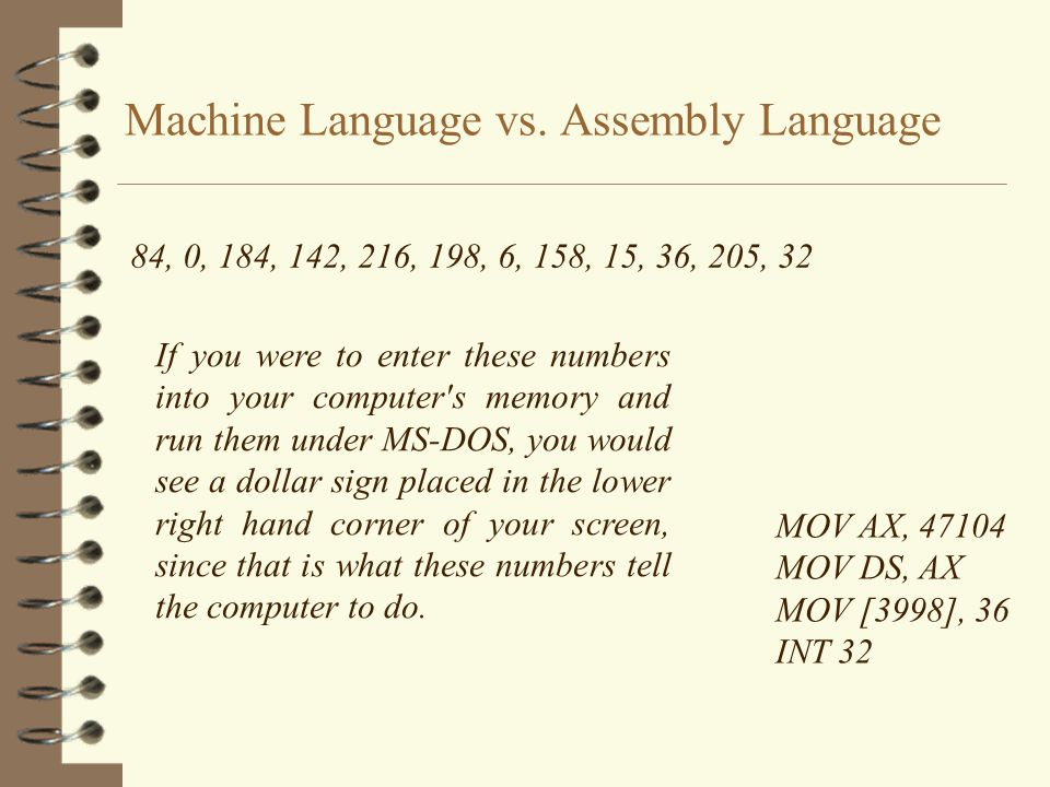 Machine Language vs. Assembly Language