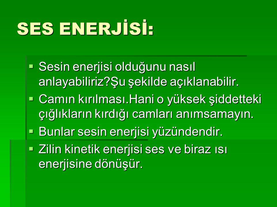 SES ENERJİSİ: Sesin enerjisi olduğunu nasıl anlayabiliriz Şu şekilde açıklanabilir.