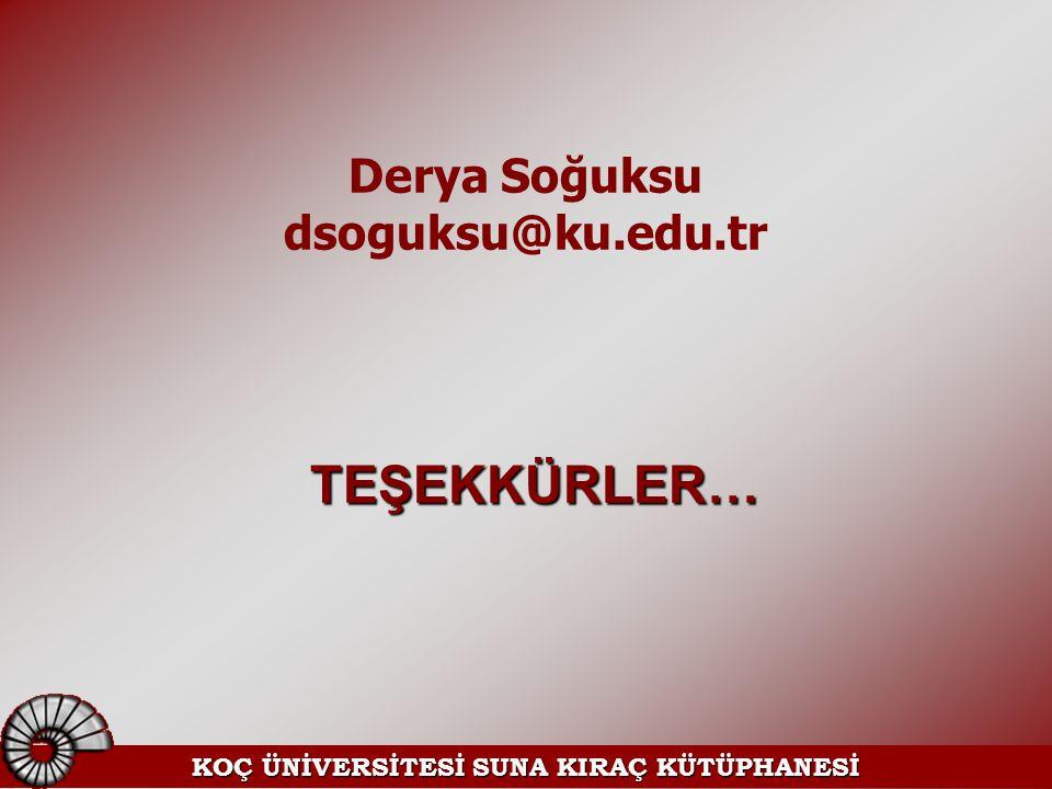 KOÇ ÜNİVERSİTESİ SUNA KIRAÇ KÜTÜPHANESİ