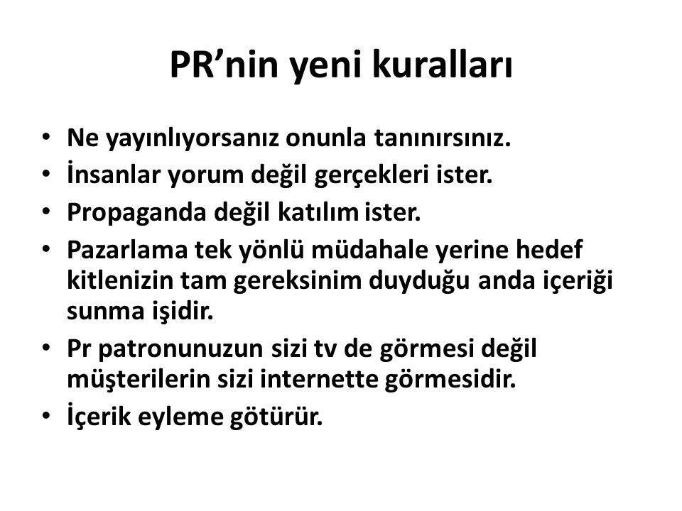 PR'nin yeni kuralları Ne yayınlıyorsanız onunla tanınırsınız.