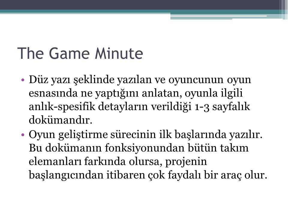 The Game Minute