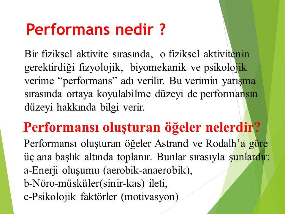Performansı oluşturan öğeler nelerdir