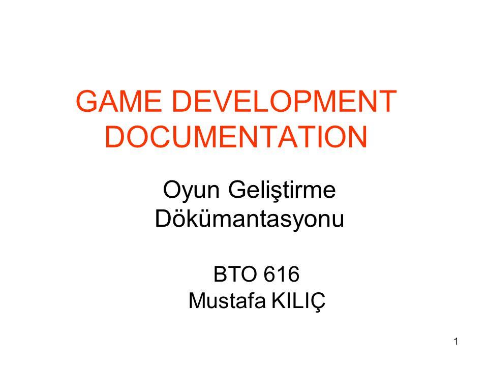 GAME DEVELOPMENT DOCUMENTATION