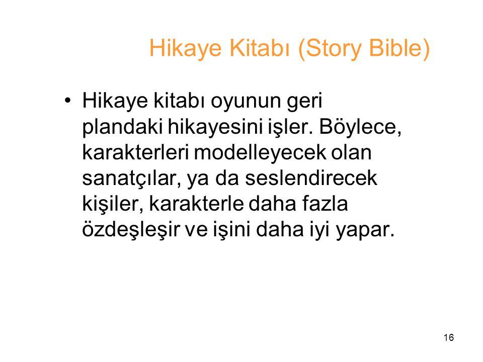 Hikaye Kitabı (Story Bible)