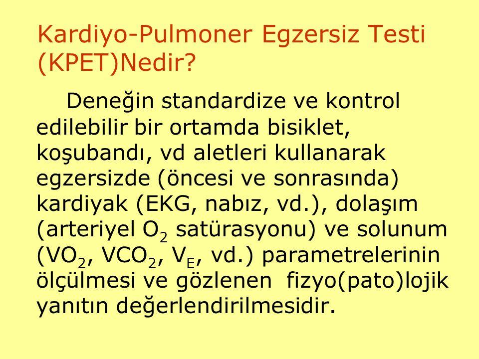 Kardiyo-Pulmoner Egzersiz Testi (KPET)Nedir