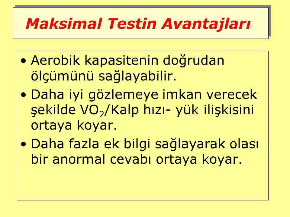 Maksimal Testin Avantajları