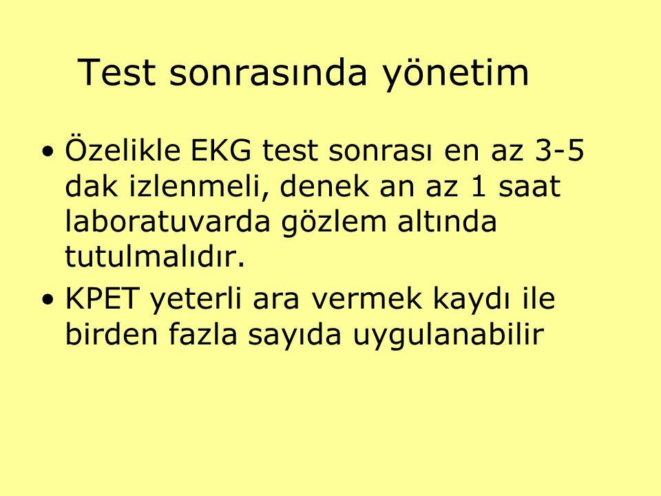 Test sonrasında yönetim