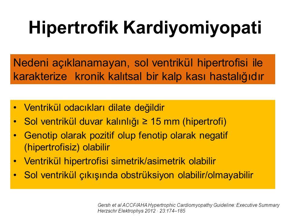 Hipertrofik Kardiyomiyopati