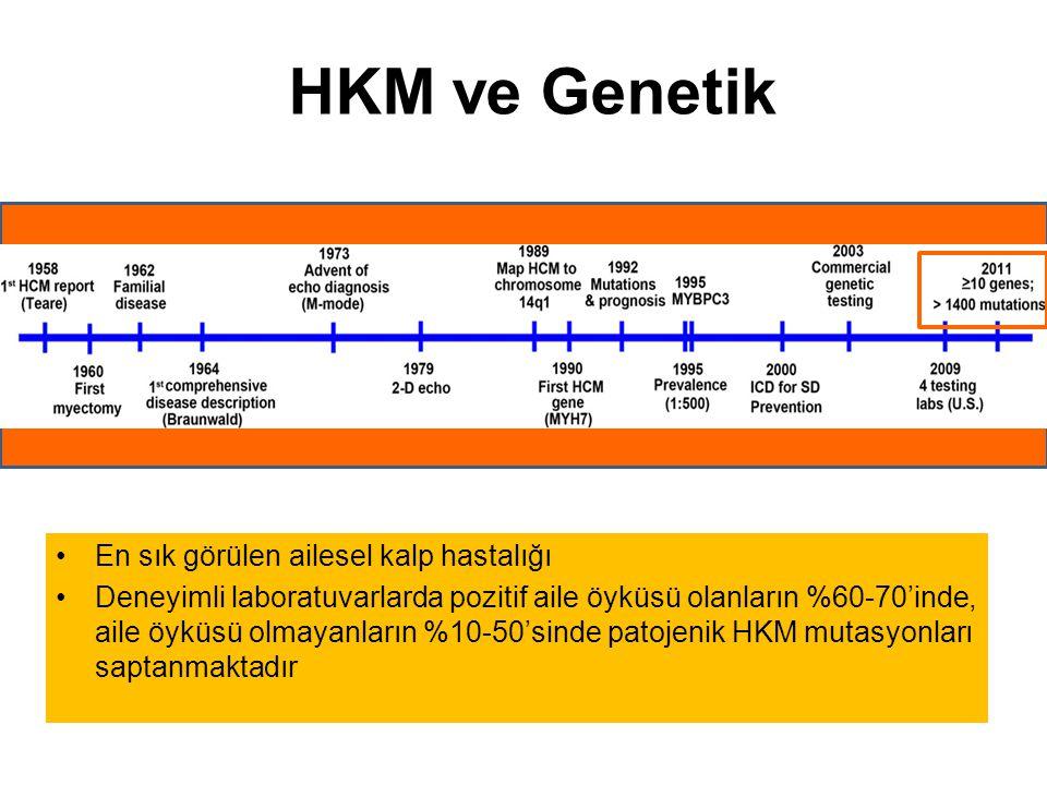 HKM ve Genetik En sık görülen ailesel kalp hastalığı