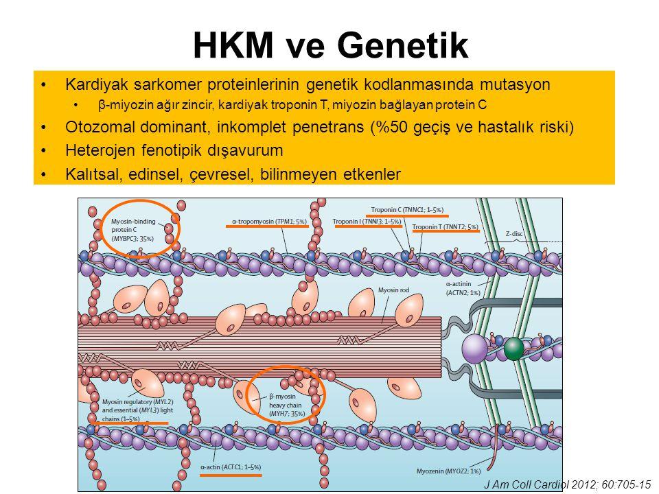 HKM ve Genetik Kardiyak sarkomer proteinlerinin genetik kodlanmasında mutasyon.
