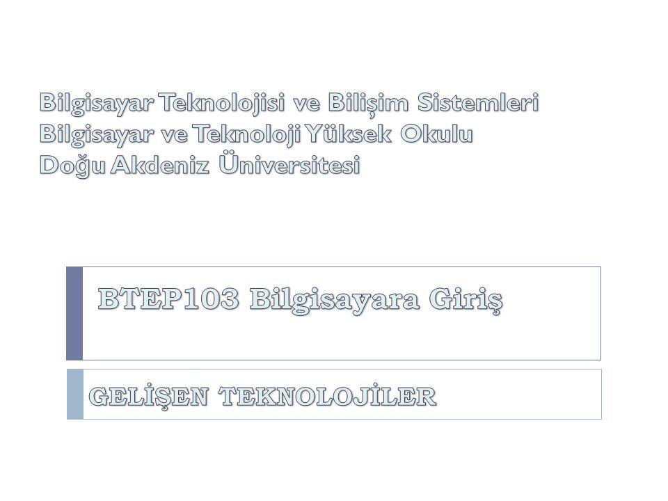 BTEP205 İşletim Sistemleri BTEP103 Bilgisayara Giriş