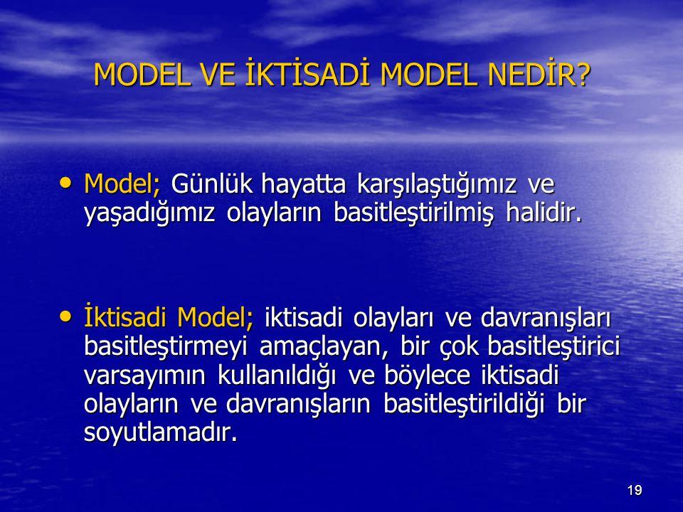 MODEL VE İKTİSADİ MODEL NEDİR