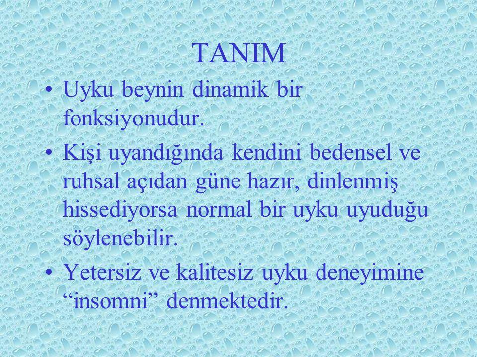 TANIM Uyku beynin dinamik bir fonksiyonudur.