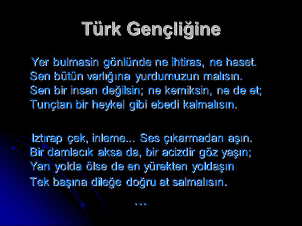 Türk Gençliğine