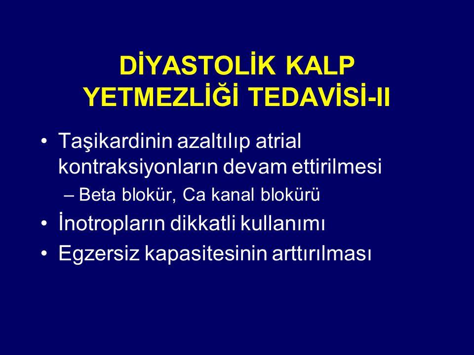 DİYASTOLİK KALP YETMEZLİĞİ TEDAVİSİ-II