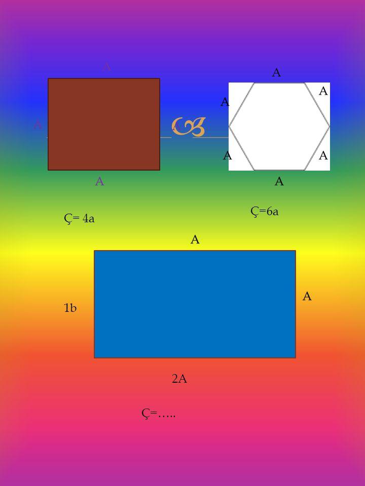 A A Ç=6a Ç= 4a 1b 2A Ç=…..