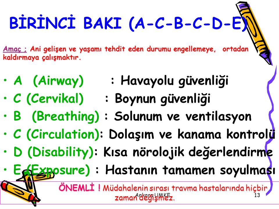 BİRİNCİ BAKI (A-C-B-C-D-E)