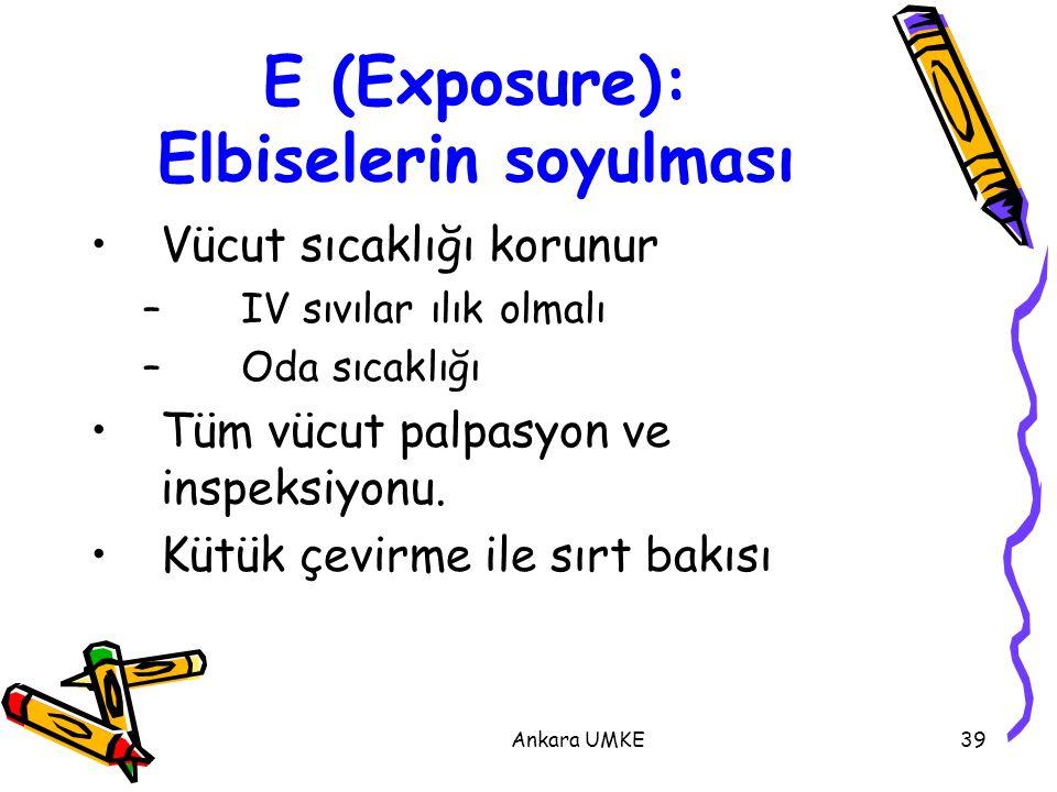 E (Exposure): Elbiselerin soyulması