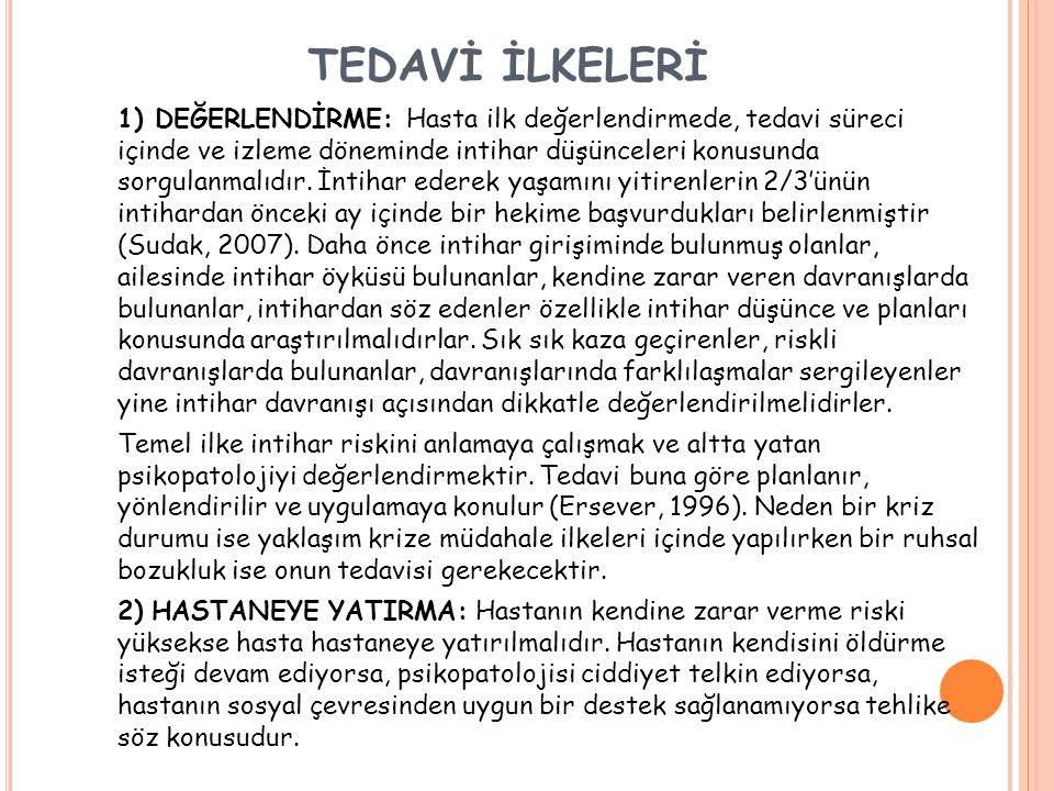 TEDAVİ İLKELERİ