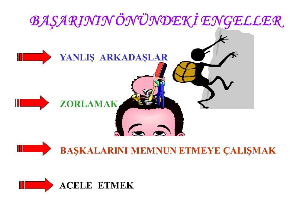 BAŞARININ ÖNÜNDEKİ ENGELLER
