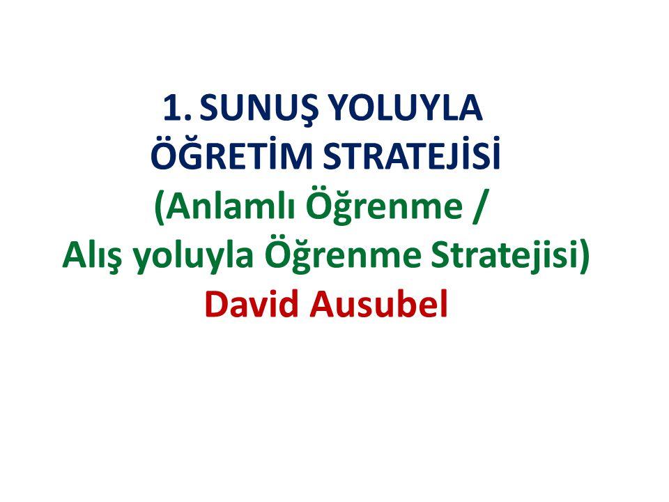Alış yoluyla Öğrenme Stratejisi)