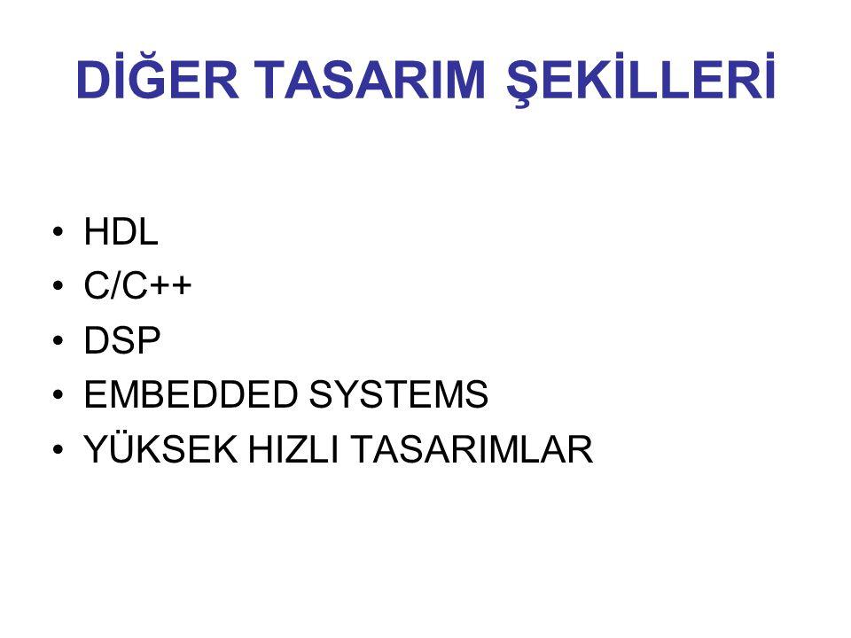 DİĞER TASARIM ŞEKİLLERİ