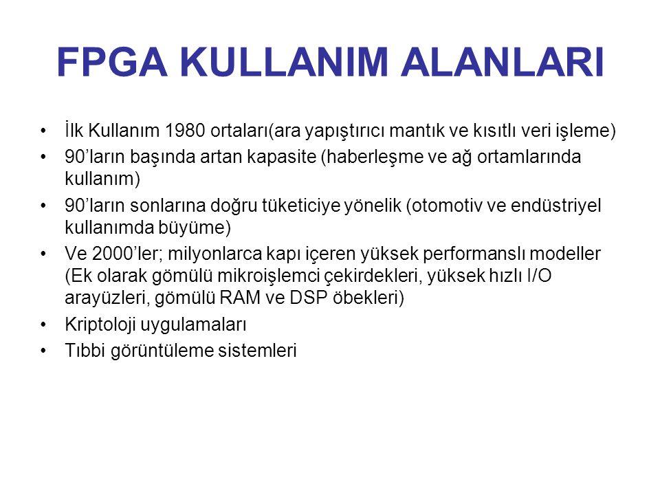 FPGA KULLANIM ALANLARI