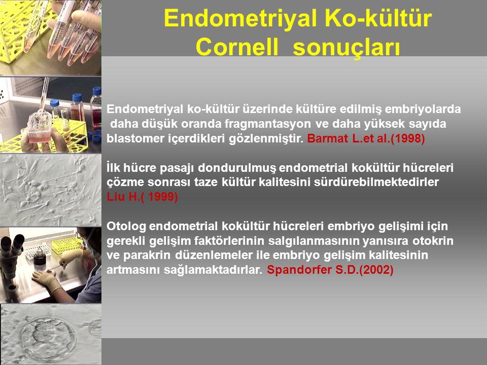Endometriyal Ko-kültür Cornell sonuçları