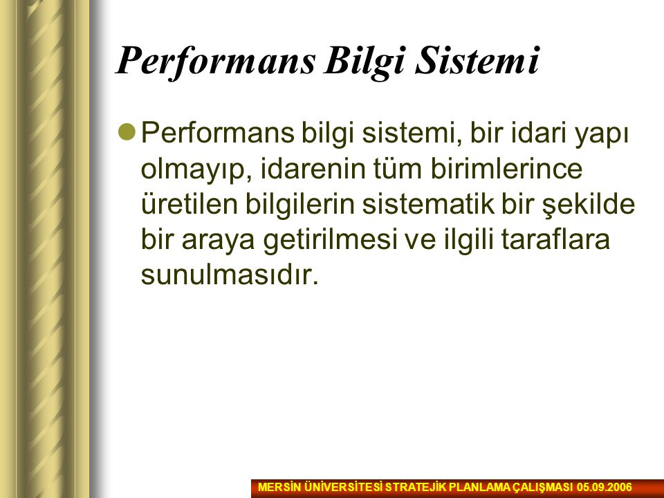 Performans Bilgi Sistemi