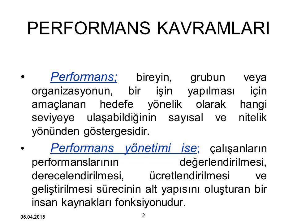 PERFORMANS KAVRAMLARI