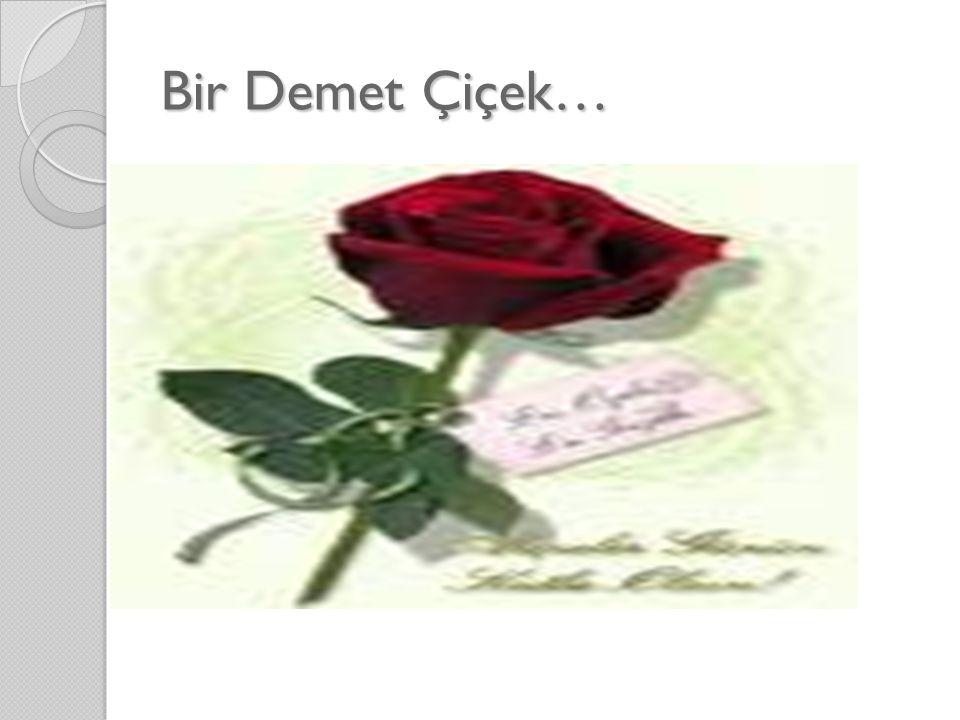 Bir Demet Çiçek…