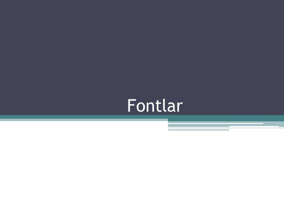 Fontlar
