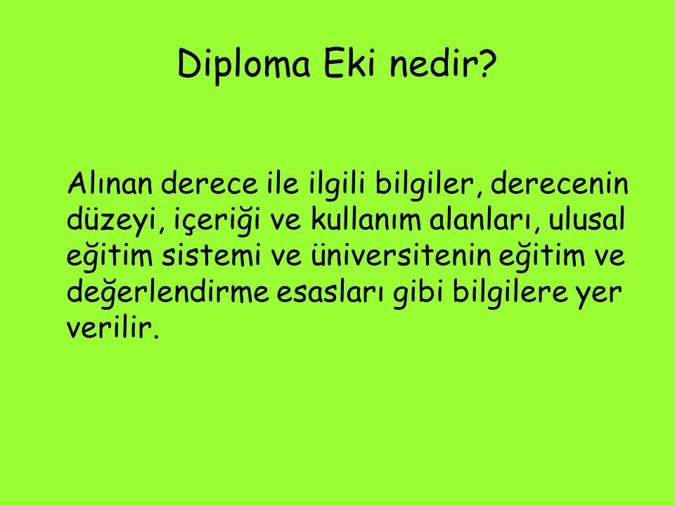 Diploma Eki nedir