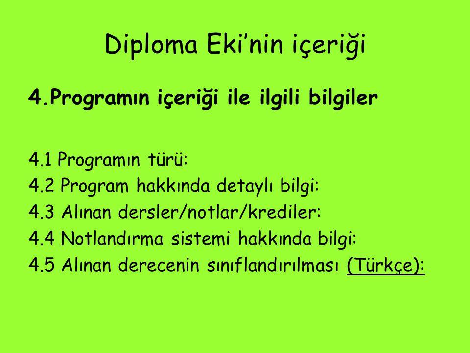 Diploma Eki'nin içeriği