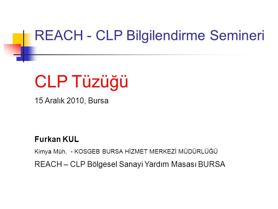 REACH - CLP Bilgilendirme Semineri