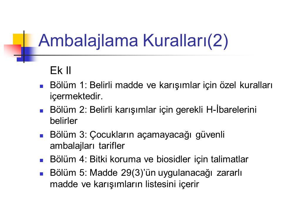 Ambalajlama Kuralları(2)