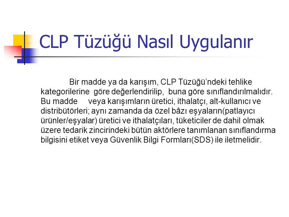 CLP Tüzüğü Nasıl Uygulanır
