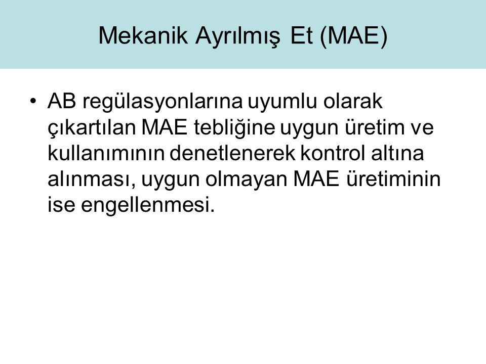 Mekanik Ayrılmış Et (MAE)