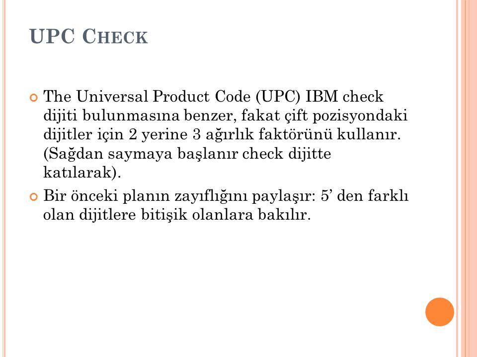 UPC Check