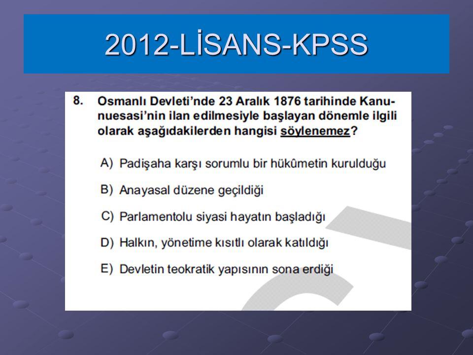 2012-LİSANS-KPSS