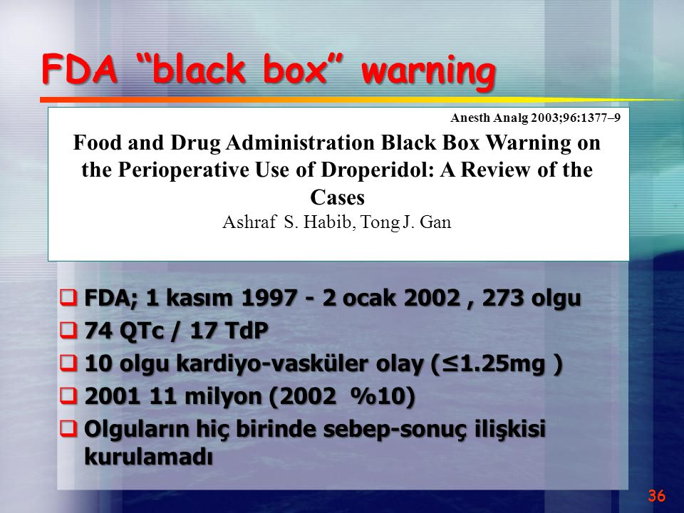 FDA black box warning