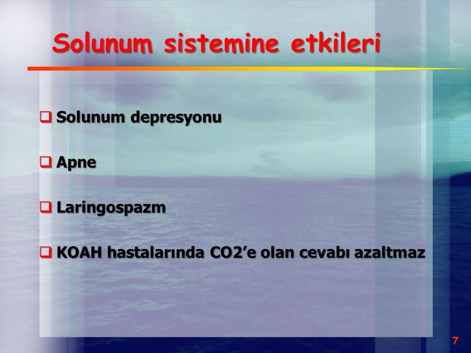 Solunum sistemine etkileri