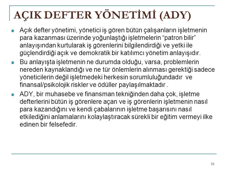AÇIK DEFTER YÖNETİMİ (ADY)