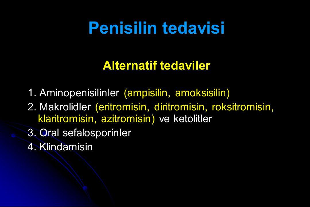 Penisilin tedavisi Alternatif tedaviler
