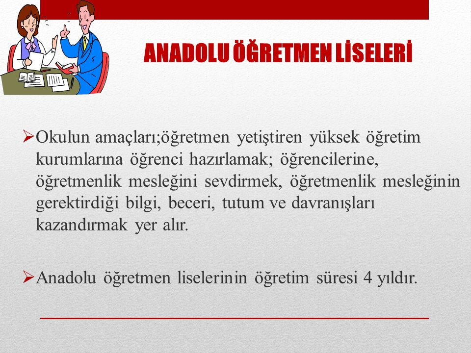 ANADOLU ÖĞRETMEN LİSELERİ