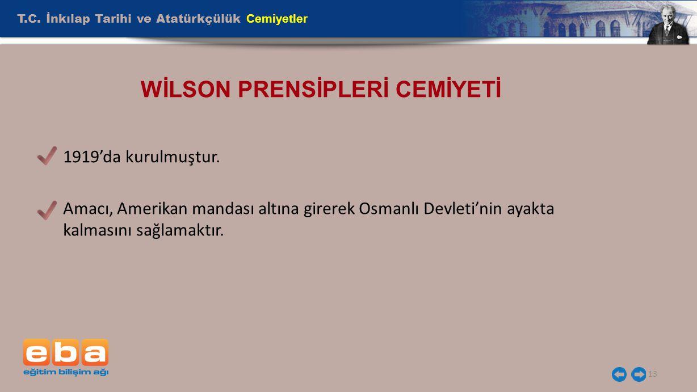 WİLSON PRENSİPLERİ CEMİYETİ