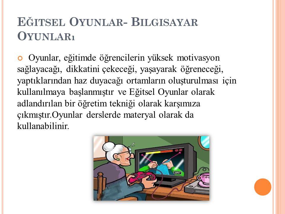 Eğitsel Oyunlar- Bilgisayar Oyunları