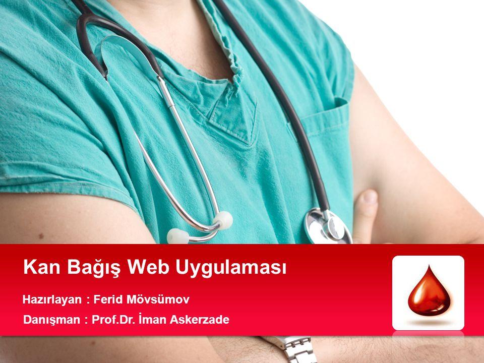 Kan Bağış Web Uygulaması